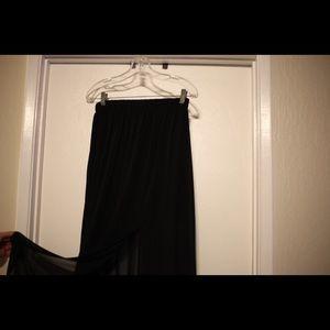 Black sheer skirt